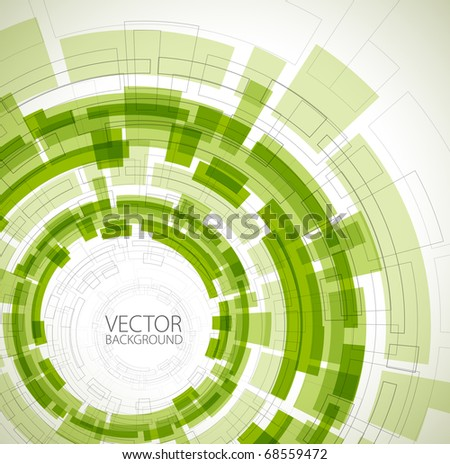 Abstract green technical background with place for your text - stock vector