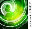 Abstract green techno background. Vector - stock vector