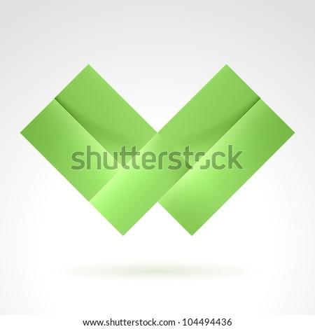 Abstract Green Tile. Illustration on white for design - stock vector