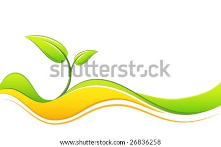 Abstract green toned design (Vector)