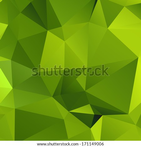 Abstract Green Triangular Background  for your web design,  Vector - stock vector