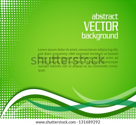 abstract green vector background eps10 illustration