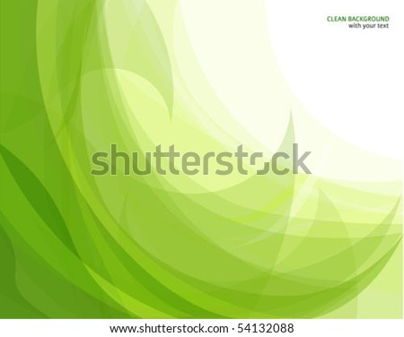 Abstract green wave background - stock vector