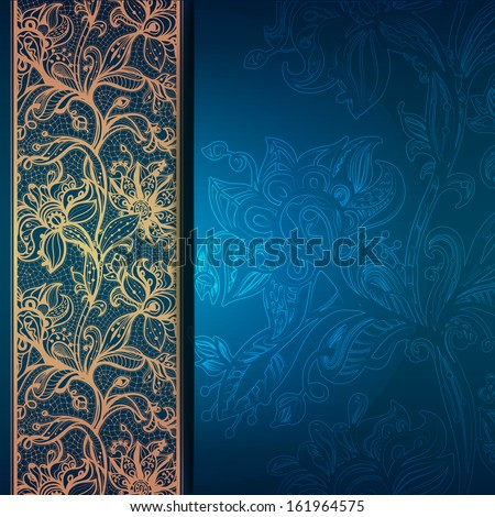 Abstract Greeting Card Background Flowers Decorative Stock Vector