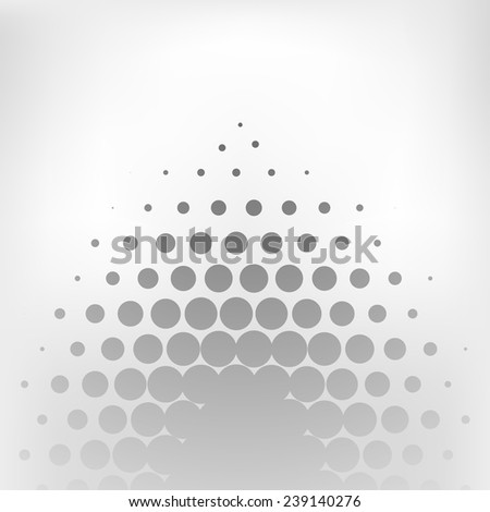 Abstract grey dotted vector background - stock vector