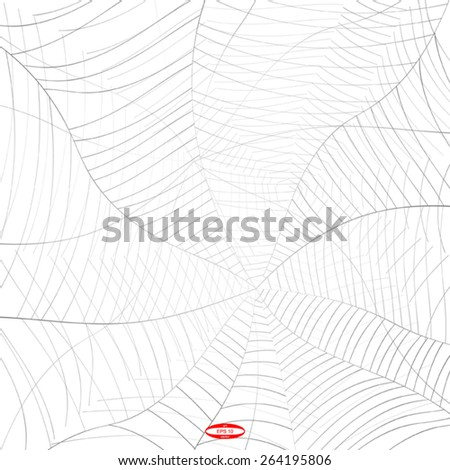 abstract grey spider web or cobweb with gray line isolated on white background vector - stock vector