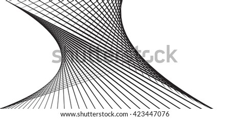 Abstract grey wave isolated on white background. illustration for modern business design. Futuristic wallpaper. Cool element for presentation - stock vector