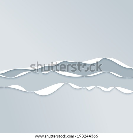Abstract Grey Wavy Background. Vector Illustration Flat Style