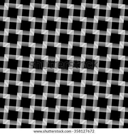 Abstract grid, mesh background. Monochrome reticulate geometric, grillage pattern. Seamlessly repeatable. - stock vector