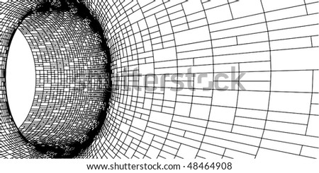 Abstract Grid Tile Hole Tunnel Constructions Vector 126 - stock vector
