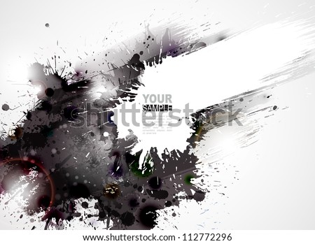 Abstract grunge artistic Background forming by blots - stock vector