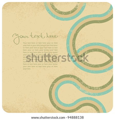 Abstract grunge background in retro style - stock vector
