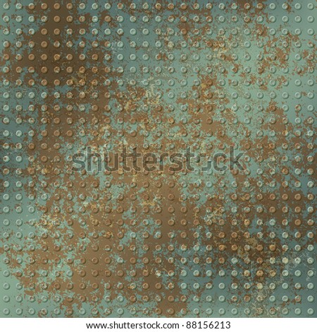 abstract grunge background of green rusty texture - stock vector