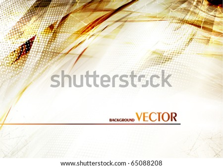 Abstract grunge background with effect of a burned paper. Vector - stock vector