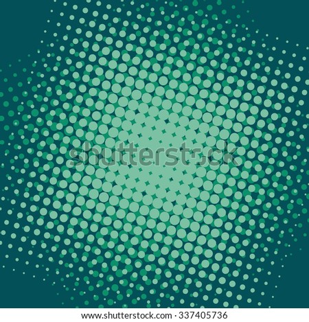Abstract grunge background with splats and halftone effect. - stock vector