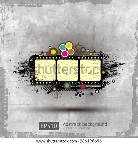 abstract grunge banner design element - vector - stock vector