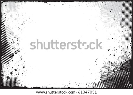 abstract grunge border design element - vector - stock vector