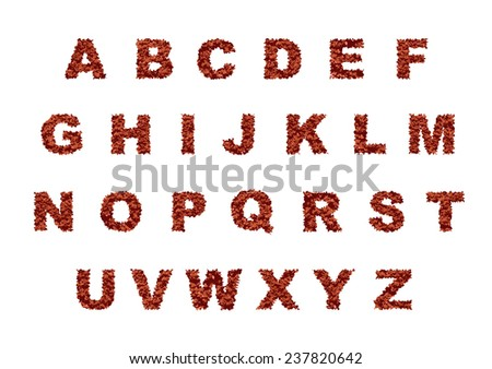 Abstract grunge font vector illustration. - stock vector