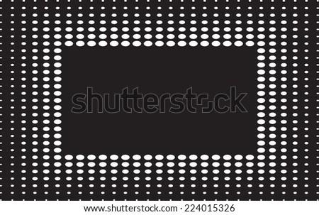 Abstract grunge frame.Halftone design.Vector illustration. - stock vector