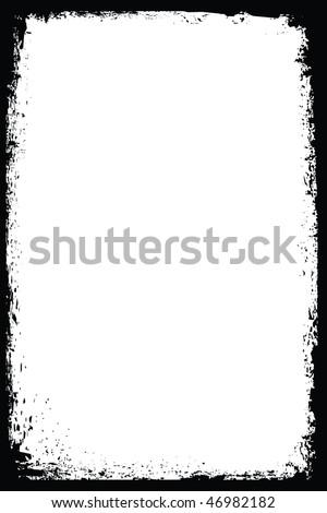Abstract grunge frame vector - stock vector