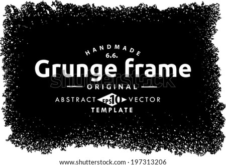 Abstract grunge frame. vector template