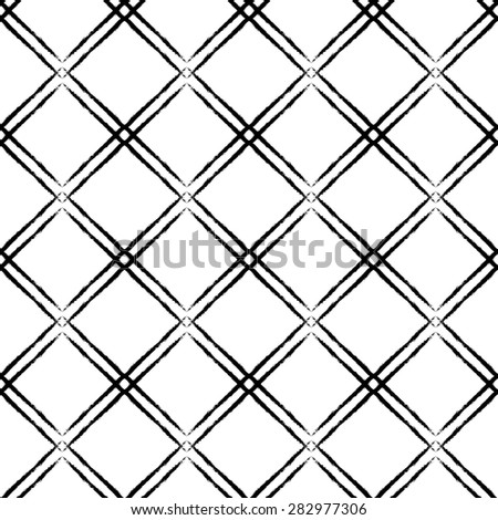 Abstract grunge minimalistic seamless pattern, design element. Can be used for invitations, greeting cards, scrapbooking, print, gift wrap, manufacturing. Grid background - stock vector