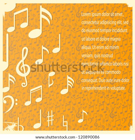 abstract grunge music background - stock vector