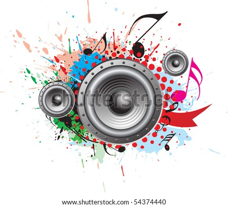 abstract grunge music theme for more vector background.