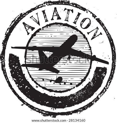Aircraft Rubber Stamps Abstract Grunge Rubber Stamp