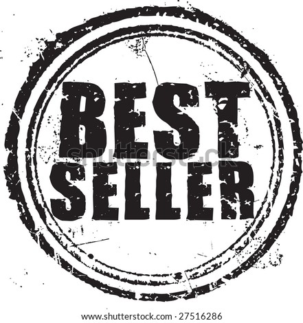 "Abstract grunge rubber stamp with the text ""best seller"" - stock vector"
