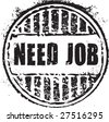 """Abstract grunge rubber stamp with the text """"need job"""" - stock vector"""