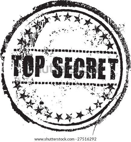 "Abstract grunge rubber stamp with the text ""top secret"" - stock vector"
