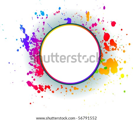 Abstract grunge spectrum backgrounds. Vector. - stock vector