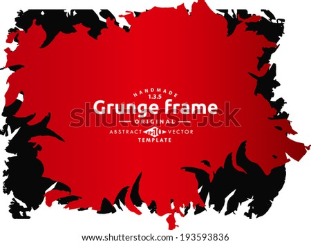 Abstract grunge splash frame. Vector template