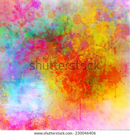 Abstract grunge style color splash background - stock vector
