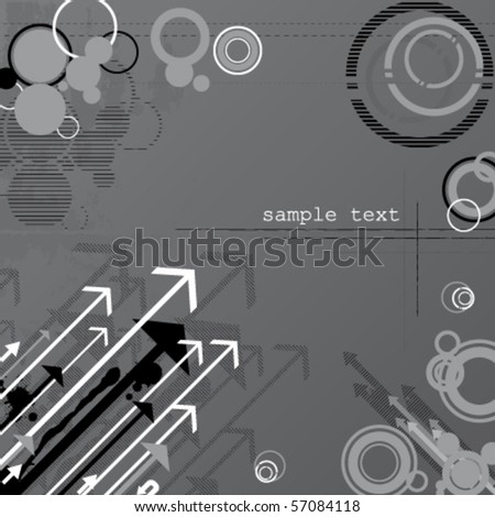 Abstract  grunge vector background with arrows - stock vector