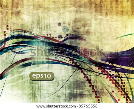 abstract grunge vector wave eps10  - vector background - stock vector