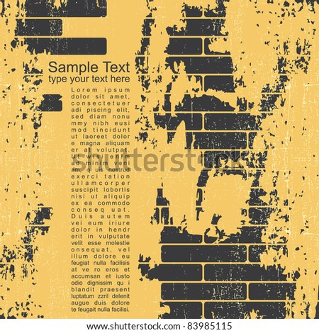 Abstract grunge wall background - stock vector