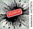 abstract grunge web button - stock vector