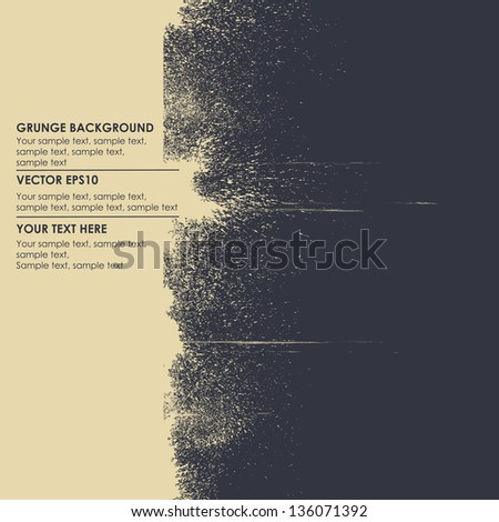 Abstract grungy background for text - stock vector