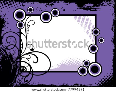 abstract grungy concept frame, vector illustration - stock vector