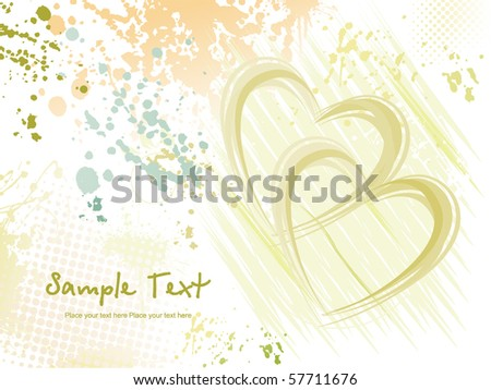 abstract grungy love background, vector illustration - stock vector