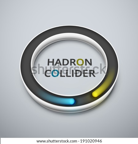 Abstract hadron collider, eps 10 - stock vector
