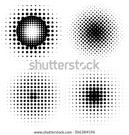 Abstract Halftone backgrounds, vector design. - stock vector