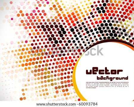 abstract halftone circle background , vector illustration. - stock vector