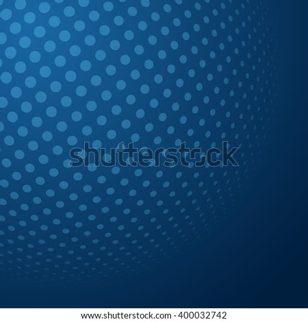 Abstract Halftone 3D Sphere with Circle Dots. Futuristic Design Element in Techno Style. Vector illustration. - stock vector