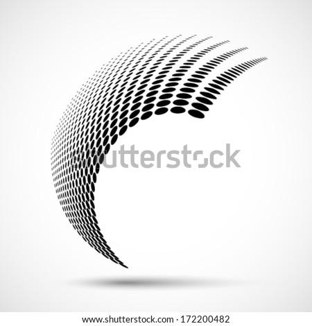 Abstract Halftone Design Element, vector logo illustration  - stock vector