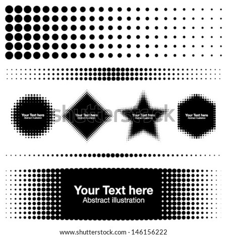 Abstract Halftone Design Elements, vector illustration  - stock vector
