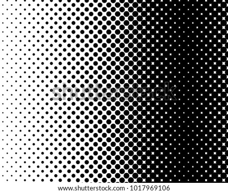 Abstract halftone dotted black and white background - vector illustration. Template for business, design, texture and postcards.