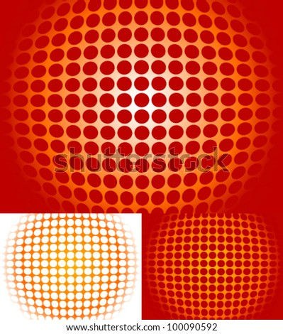 abstract halftone like circle background